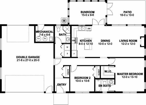 Dream House Plan - Ranch Floor Plan - Main Floor Plan #126-209