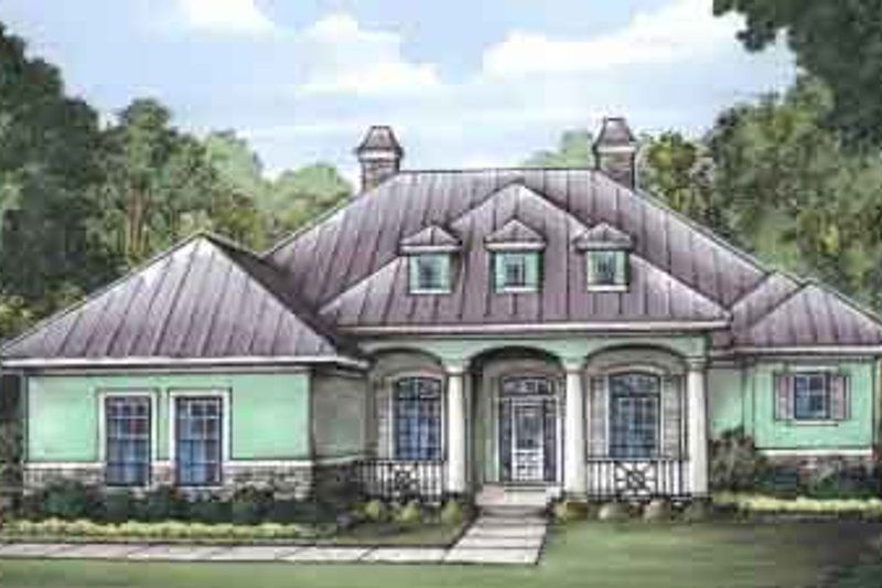 Mediterranean Style House Plan - 4 Beds 3 Baths 2542 Sq/Ft Plan #115-192