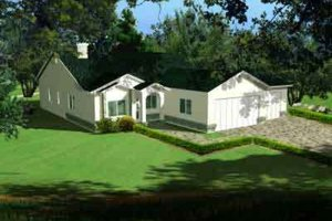 Traditional Exterior - Front Elevation Plan #1-608