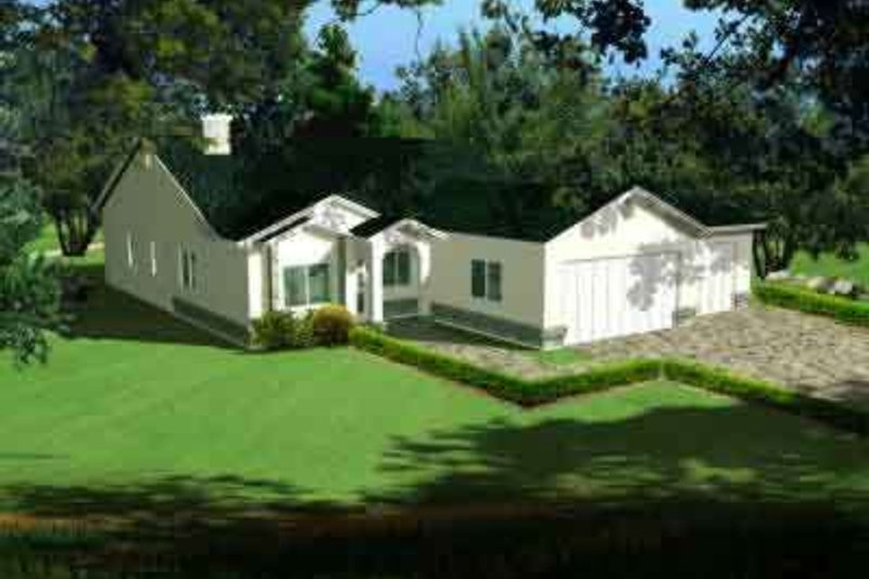 Traditional Style House Plan - 4 Beds 2 Baths 1688 Sq/Ft Plan #1-608 Exterior - Front Elevation