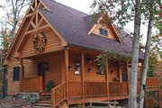 Cabin Style House Plan - 2 Beds 2 Baths 1154 Sq/Ft Plan #118-102 Exterior - Rear Elevation