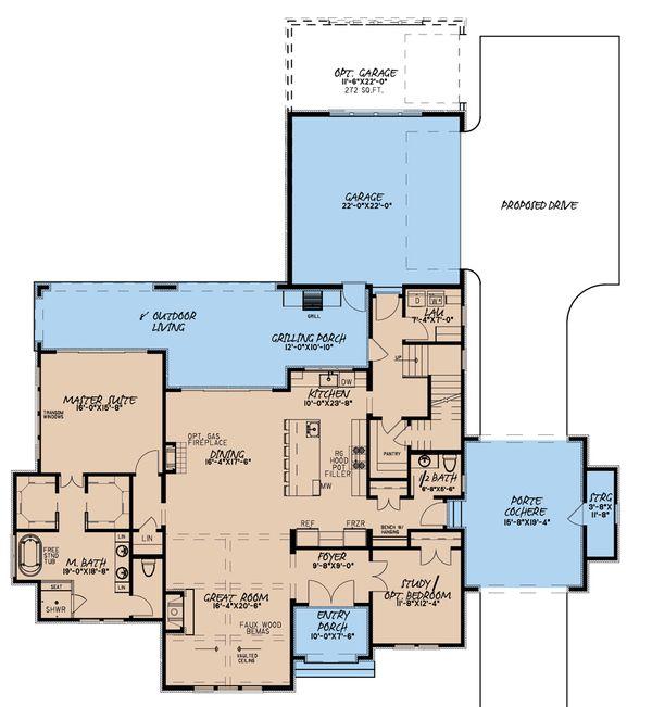 House Plan Design - European Floor Plan - Main Floor Plan #923-184