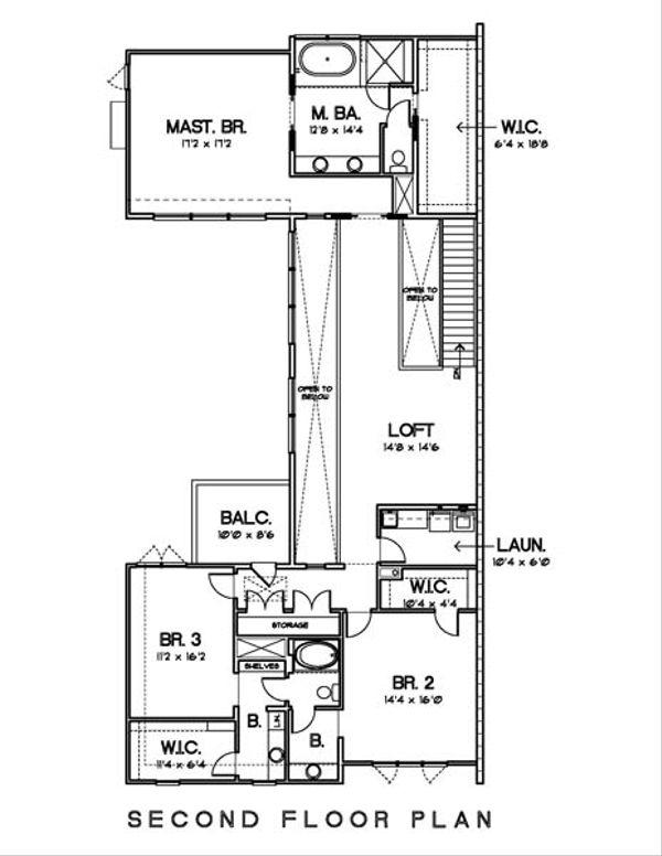 Modern Floor Plan - Upper Floor Plan Plan #449-11