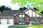 European Style House Plan - 3 Beds 2 Baths 1160 Sq/Ft Plan #45-225 Exterior - Front Elevation
