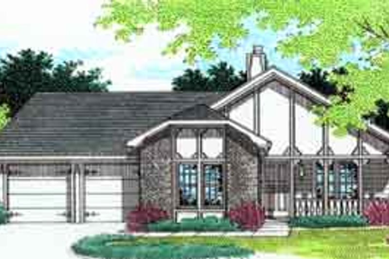 Home Plan - European Exterior - Front Elevation Plan #45-225