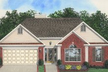 Home Plan Design - Traditional Exterior - Front Elevation Plan #56-127