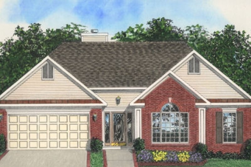 Traditional Exterior - Front Elevation Plan #56-127 - Houseplans.com