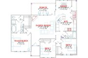 Traditional Style House Plan - 3 Beds 2 Baths 1470 Sq/Ft Plan #63-147 Floor Plan - Main Floor Plan
