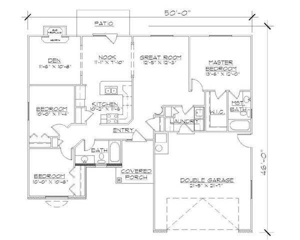 Mediterranean Floor Plan - Main Floor Plan Plan #5-230