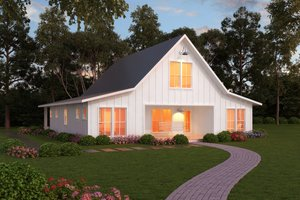 House Plan Design - Farmhouse style plan 888-13 front
