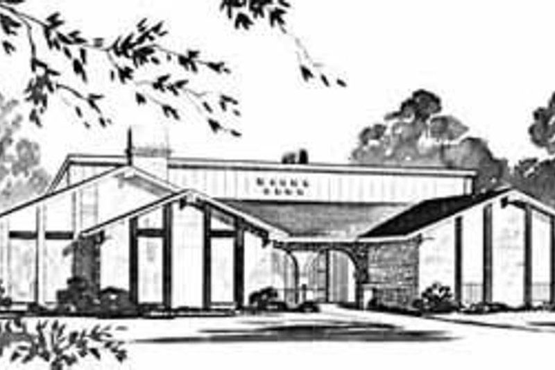 House Design - Modern Exterior - Front Elevation Plan #36-389
