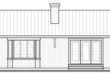Cottage Exterior - Rear Elevation Plan #23-754