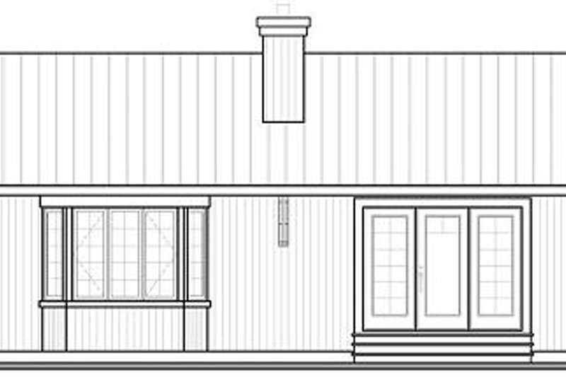 Cottage Exterior - Rear Elevation Plan #23-754 - Houseplans.com