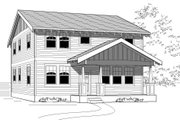 Craftsman Style House Plan - 4 Beds 3 Baths 2027 Sq/Ft Plan #423-13 Exterior - Front Elevation