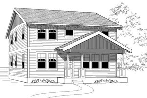 Craftsman Exterior - Front Elevation Plan #423-13