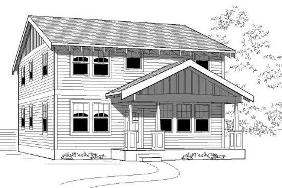 Craftsman Exterior - Front Elevation Plan #423-13