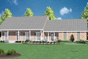 Ranch Style House Plan - 3 Beds 2 Baths 1486 Sq/Ft Plan #36-119 Exterior - Front Elevation