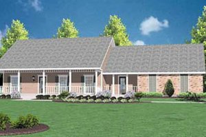 House Design - Ranch Exterior - Front Elevation Plan #36-119