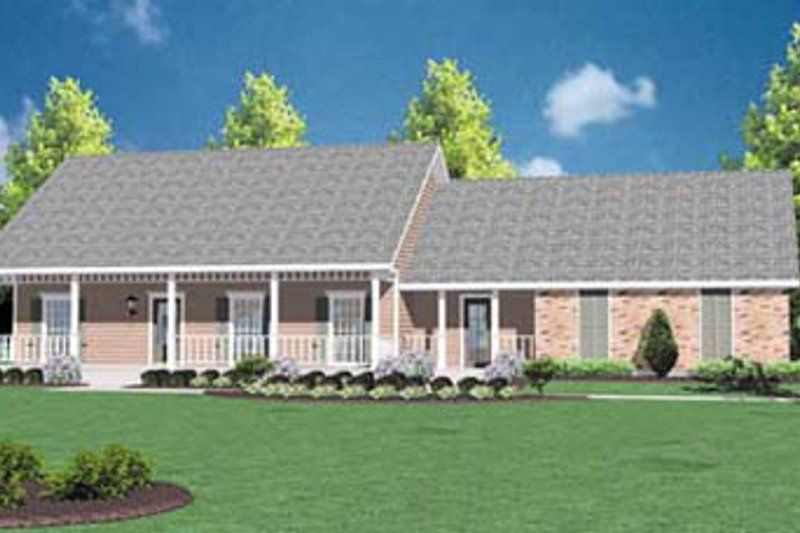 Ranch Exterior - Front Elevation Plan #36-119