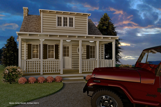 Cottage Exterior - Front Elevation Plan #489-5