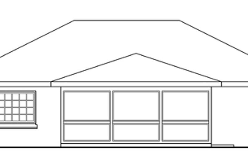 Traditional Exterior - Rear Elevation Plan #124-256 - Houseplans.com