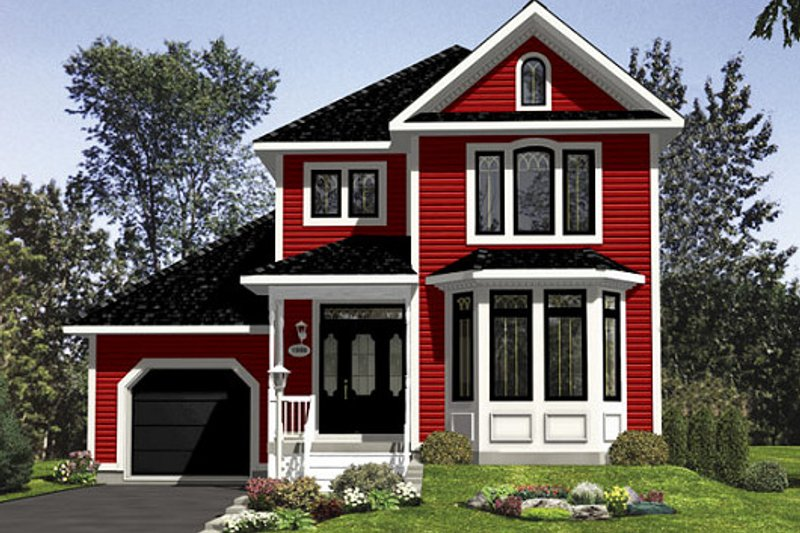 Victorian Style House Plan - 3 Beds 1.5 Baths 1510 Sq/Ft Plan #138-351 Exterior - Front Elevation