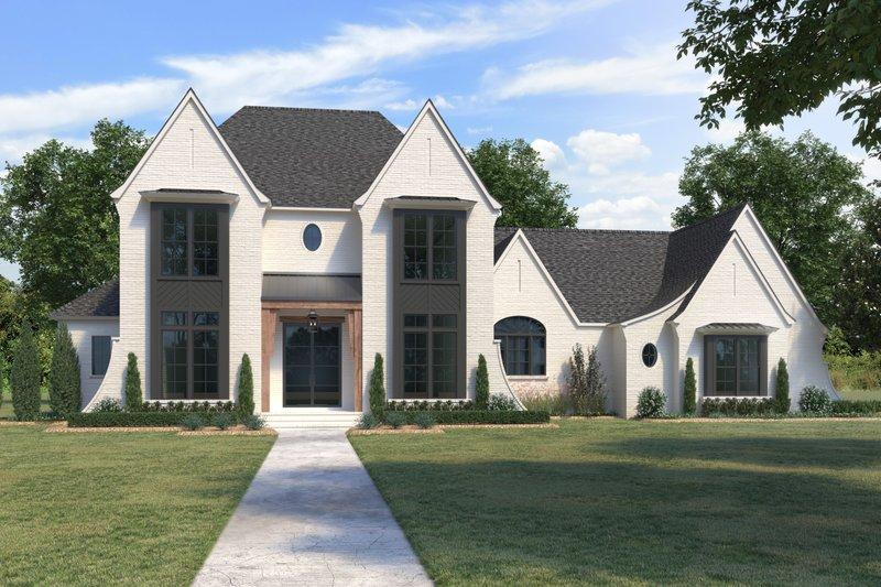 Modern Style House Plan - 4 Beds 4.5 Baths 3976 Sq/Ft Plan #1074-41