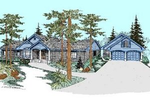 Traditional Exterior - Front Elevation Plan #60-282