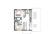 Contemporary Style House Plan - 3 Beds 2 Baths 1544 Sq/Ft Plan #23-2037 Floor Plan - Upper Floor Plan