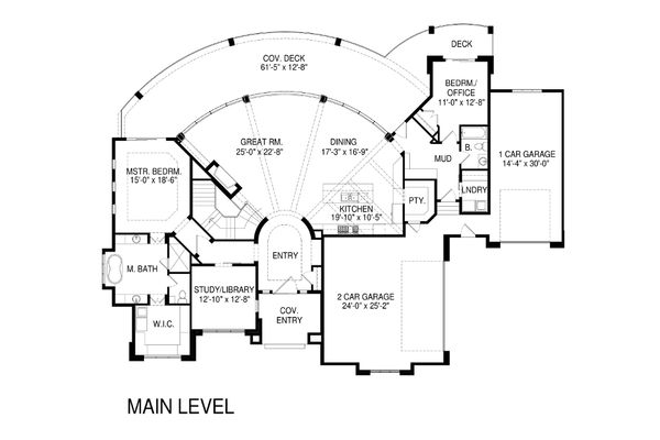 Modern Floor Plan - Main Floor Plan Plan #920-18