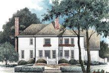 House Design - Country Exterior - Rear Elevation Plan #429-24