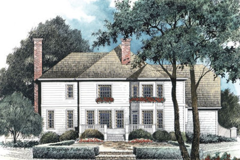 Country Exterior - Rear Elevation Plan #429-24 - Houseplans.com