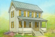 Cottage Style House Plan - 2 Beds 1 Baths 936 Sq/Ft Plan #514-13