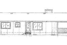 Cabin Exterior - Rear Elevation Plan #320-407