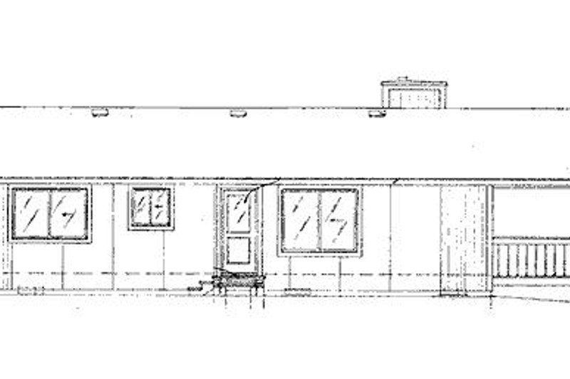 Cabin Exterior - Rear Elevation Plan #320-407 - Houseplans.com