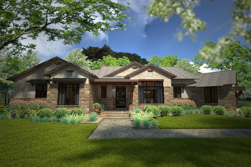 Architectural House Design - Country Exterior - Front Elevation Plan #120-192