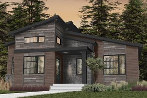Modern Exterior - Front Elevation Plan #23-2722