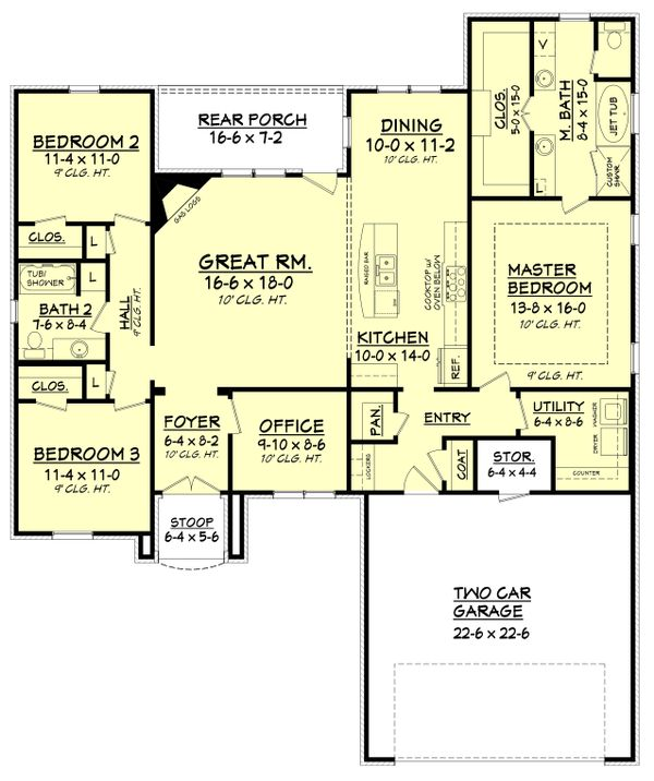 European Floor Plan - Main Floor Plan Plan #430-122