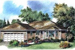 Traditional Exterior - Front Elevation Plan #18-9247