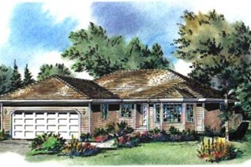 Traditional Style House Plan - 3 Beds 2 Baths 1510 Sq/Ft Plan #18-9247 Exterior - Front Elevation