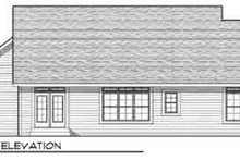 Dream House Plan - Traditional Exterior - Rear Elevation Plan #70-826