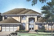 European Style House Plan - 4 Beds 2.5 Baths 2335 Sq/Ft Plan #417-241 Exterior - Front Elevation