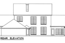 Southern Exterior - Rear Elevation Plan #40-112