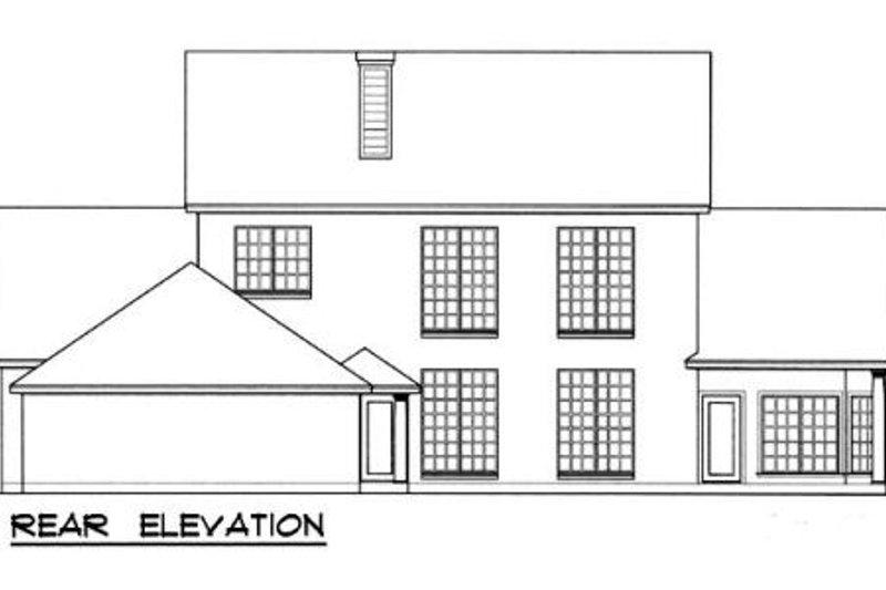 Southern Exterior - Rear Elevation Plan #40-112 - Houseplans.com