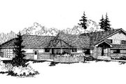 Traditional Style House Plan - 6 Beds 4 Baths 3417 Sq/Ft Plan #60-170 Exterior - Front Elevation