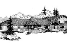 Home Plan Design - Traditional Exterior - Front Elevation Plan #60-170