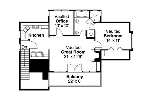 Craftsman Floor Plan - Main Floor Plan Plan #124-935