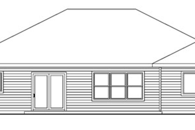 Craftsman Exterior - Rear Elevation Plan #124-745 - Houseplans.com