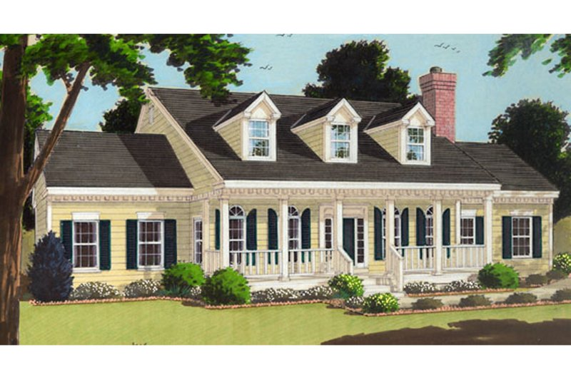 Colonial Exterior - Front Elevation Plan #3-239