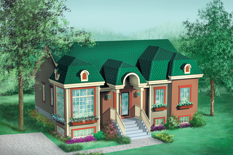 European Style House Plan - 3 Beds 1 Baths 1216 Sq/Ft Plan #25-1015 Exterior - Front Elevation
